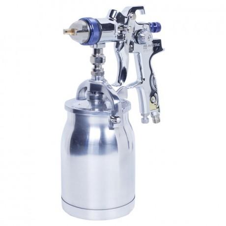 Краскопульт высокого давления, сопло 1,5 мм, нижний бачок, кейс МАСТАК 670-115C