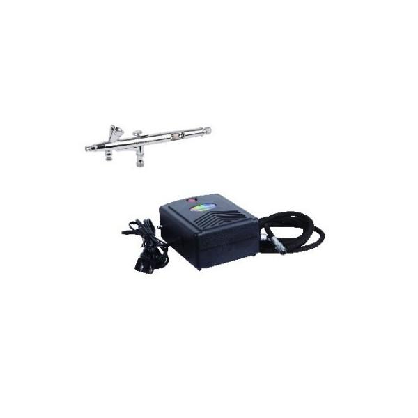 Аэрограф для тортов, кондитерский №4 (набор с компрессором), TNT